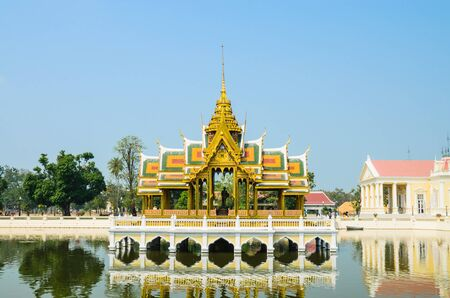 Palace in bang-pa-in park at ayutthaya province (Thailand.) Stock Photo - 17491159