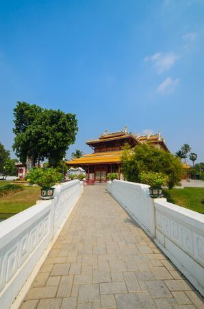 Chinese temple in bang-pa-in park at ayutthaya province. Stock Photo - 17496345