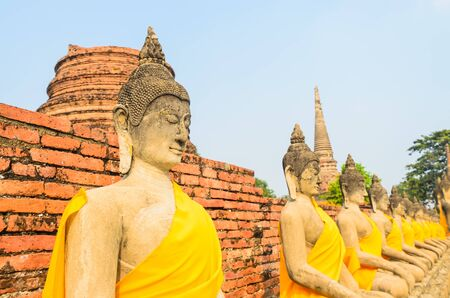 Buddha statue in mongkol temple at ayutthaya province (Thailand) photo