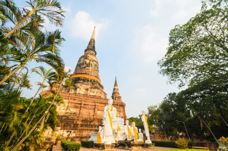 old big pagoda in mongkol temple at ayutthaya province (Thailand) Stock Photo - 17496974