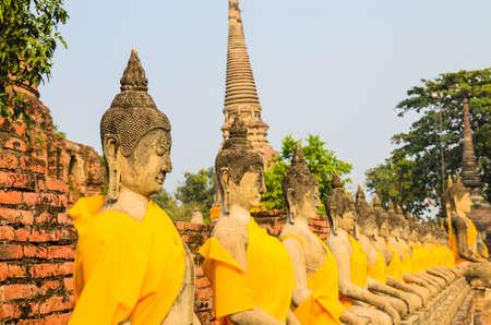 Buddha statue in mongkol temple at ayutthaya province (Thailand) Stock Photo - 17496352