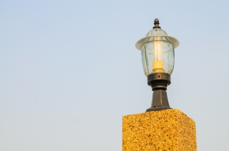 Lamp with the sky. Stock Photo - 17494478
