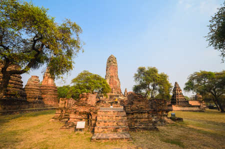 Old Temple at ayutthaya province (Thailand) Stock Photo - 17497734