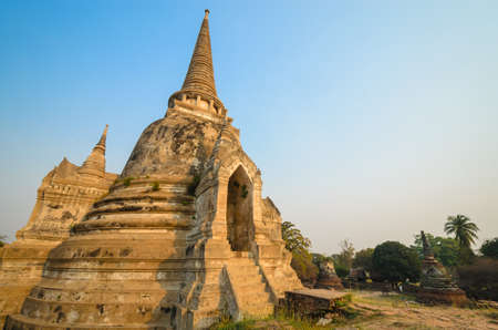 Old Temple at ayutthaya province (Thailand) Stock Photo - 17497216
