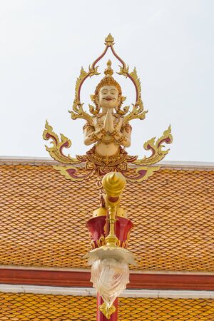 tradition thai style lamp in the temple of bangkok province. Stock Photo - 18610775