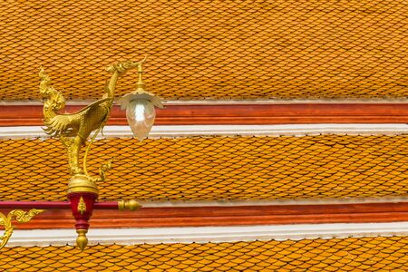 tradition thai style lamp in the temple of bangkok province. Stock Photo - 18614856
