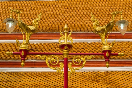 tradition thai style lamp in the temple of bangkok province. Stock Photo - 18614858