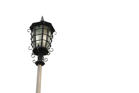 Street lamp on white backgrounds. Stock Photo - 18614927