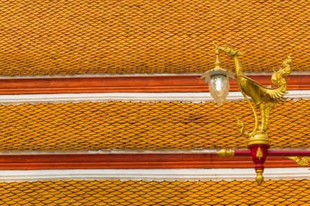 tradition thai style lamp in the temple of bangkok province. Stock Photo - 18616226