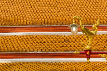 tradition thai style lamp in the temple of bangkok province. Stock Photo - 18616229