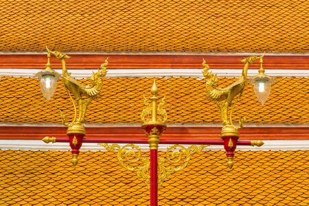 tradition thai style lamp in the temple of bangkok province. Stock Photo - 18616249