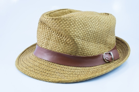 hat on white backgrounds. photo