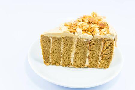 cake on white backgrounds. Stock Photo - 18615449