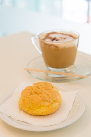 Bread with coffee photo