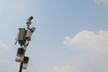 CCTV with the sky photo