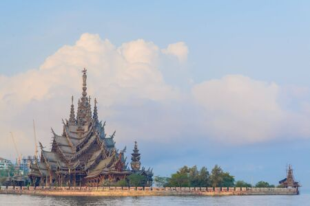 The Sanctuary of Truth in pattaya province (Thailand.) photo