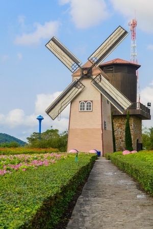 Wind Turbine at chonburi province (Thailand.) photo
