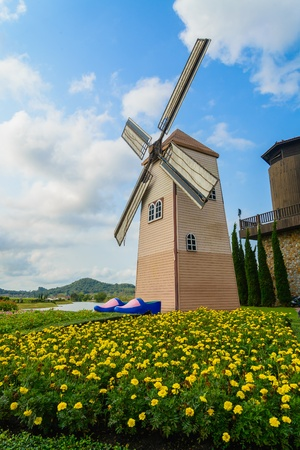 Wind Turbine at chonburi province (Thailand.) Stock Photo - 18667153