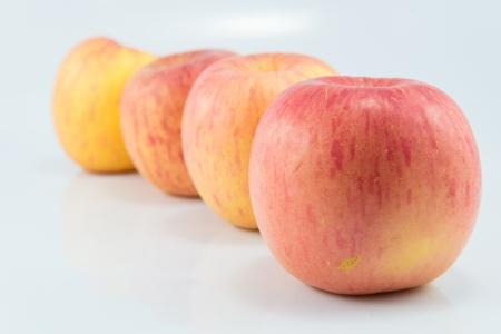 Apple on white backgrounds. photo