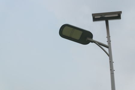Lamp with the sky photo