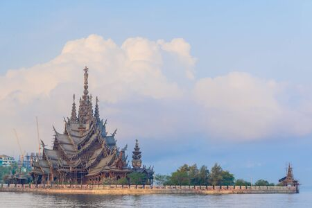 The Sanctuary of Truth in pattaya province (Thailand.)