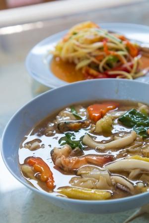 Seafood noodles photo