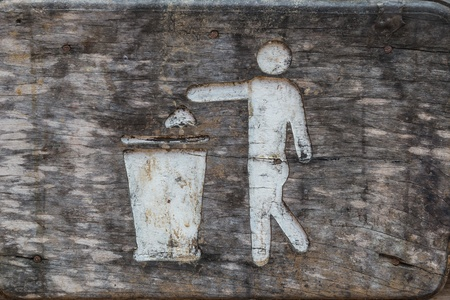 Wood Bin sign photo