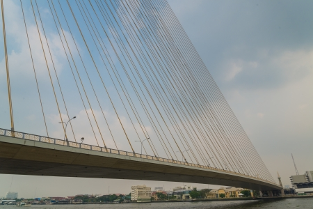 Rama8 bridge in bangkok province (Thailand) photo