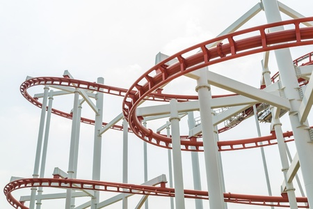 looping: Rail sky at the park in bangkok province (Thailand) Stock Photo