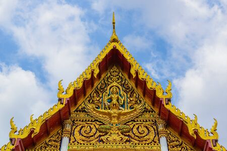 Architecture in the temple of thailand photo