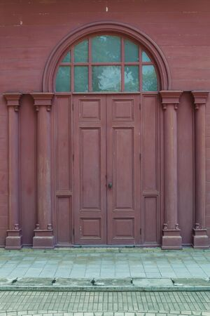 Beautiful door and window style from sanamchan castle Stock Photo - 19959046