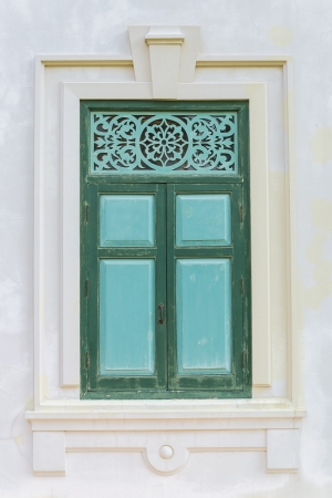 Beautiful door and window style from sanamchan castle Stock Photo - 19960184