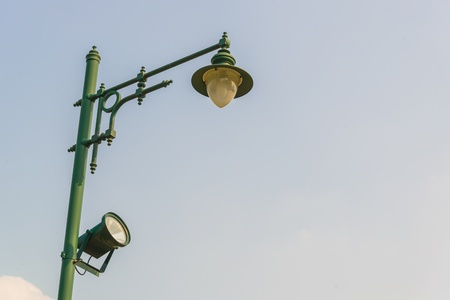 Lamp with the bluesky photo