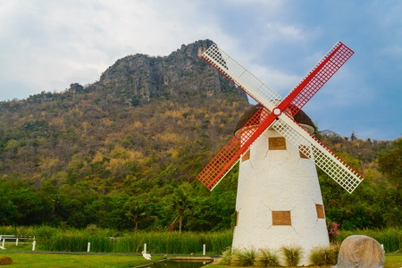 watermanagement: Wind turbine from thailand Stock Photo