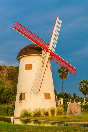 watermanagement: Wind turbine from thailand Stock Photo