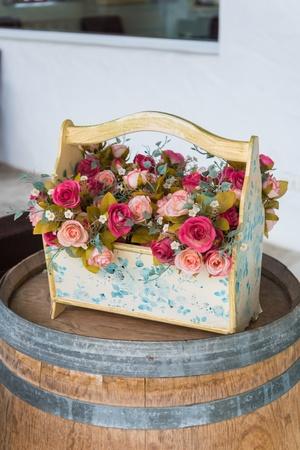 fake flower in the vase photo
