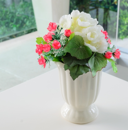 Fake Flower In The Vase Stock Photo Picture And Royalty Free Image
