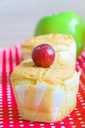 Cupcakes and green apple photo