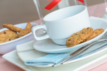 Cookies and Coffee cup photo