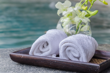 towels for spa photo