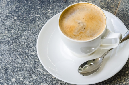 Hot Coffee in a cup photo