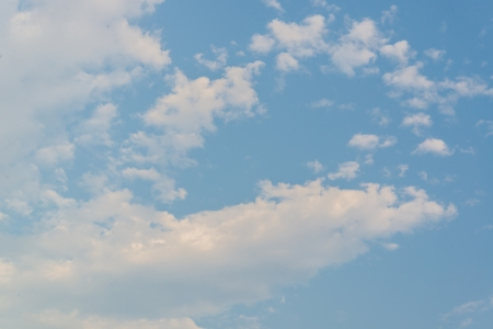 white cloud and blue sky photo