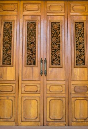 Beautiful door in bangkok province (Thailand) photo
