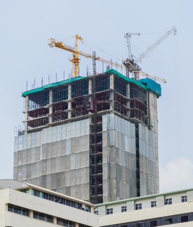erection: Crane building with the sky