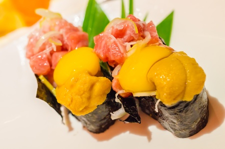 cuisines: Japanese food in the japanese restaurant