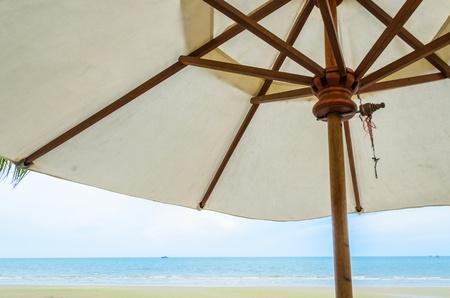 Umbrella Beach&sea in thailand photo