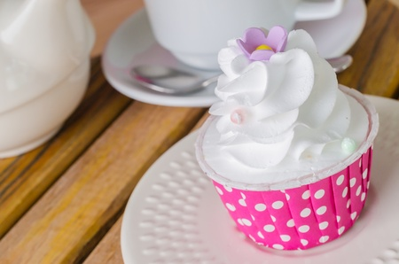 White cream Cupcake photo