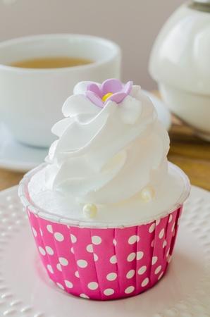 White cream Cupcake photo