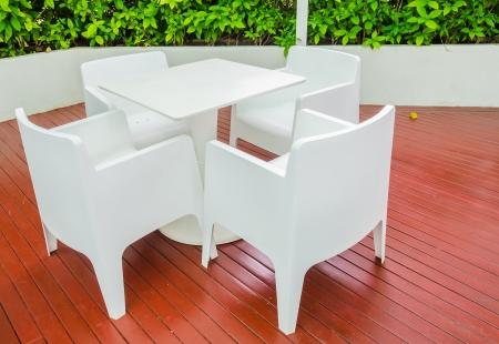 restuarant: White table in the restuarant