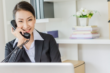 Young business women phone calling Stock Photo - 21025453